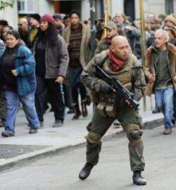 Frank Cuervo on the set of Dark Knight Rises in New York City, November 3, 2011